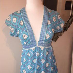 Vintage Sky Blue Emilio Pucci Dress